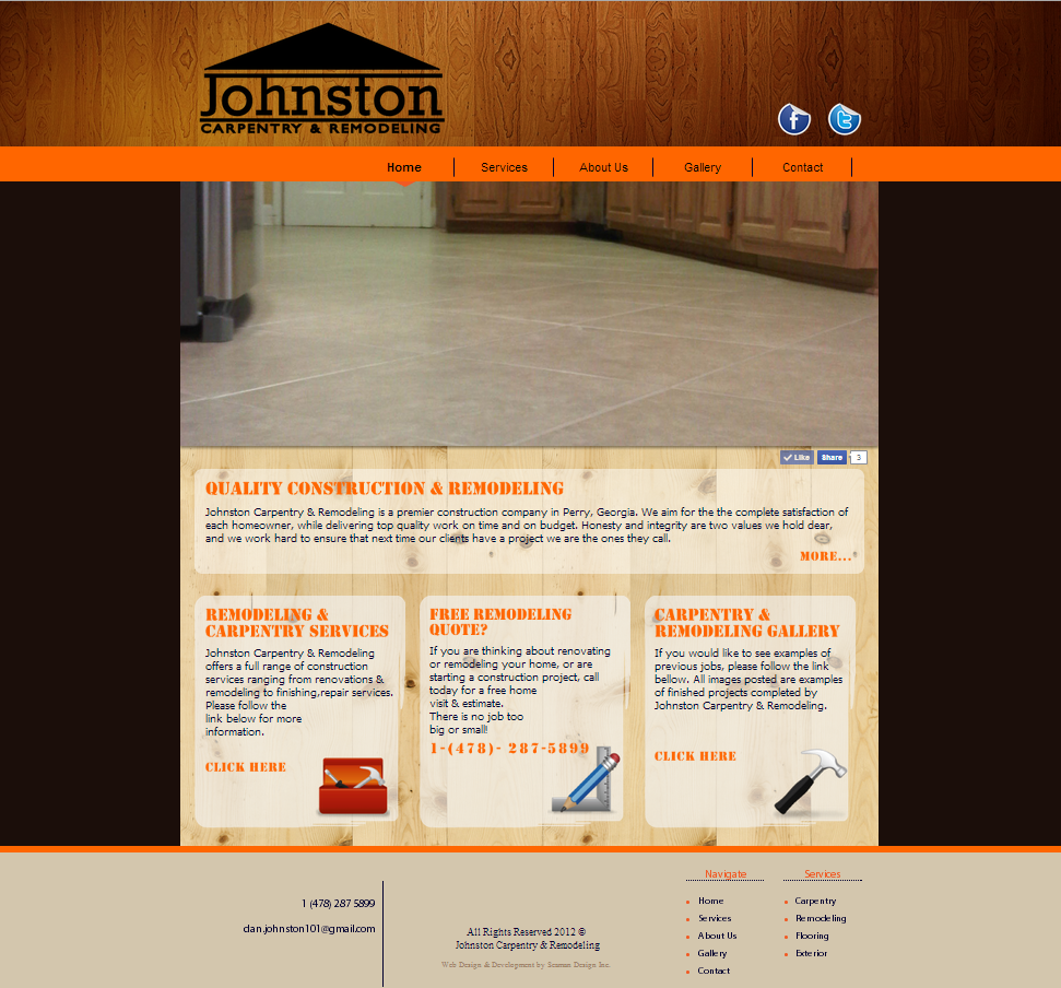 Small Business Web Design - Johnston Remodeling Company
