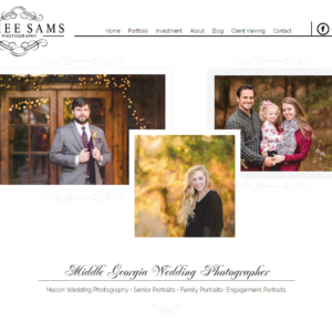 Wedding Photographer Web Design