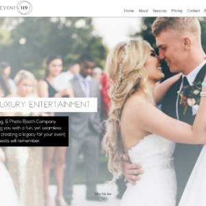 Wedding Vendor Website Design